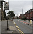 ST2987 : Warning sign - elderly people, Bassaleg Road, Newport by Jaggery