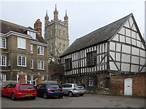 SO8318 : Cathedral Close, Gloucester by Rudi Winter