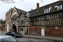 SO8318 : St Mary's Gate and Almoner's Lodgings, Gloucester Cathedral by Rudi Winter