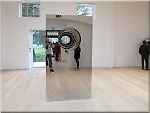 TQ1780 : Anish Kapoor mirror sculpture in Pitzhanger Gallery by David Hawgood