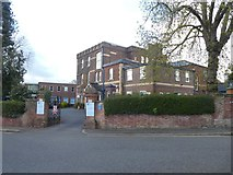 SX9292 : The Maynard School, Exeter and blue plaque by David Smith