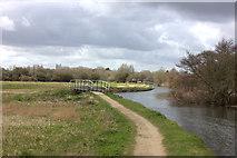 TL4311 : Stort Valley Way footbridge by Robert Eva
