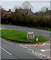 ST2583 : Directions signs in the middle of the A48, Castleton by Jaggery