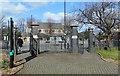 TQ1380 : Southall Park Gates by Des Blenkinsopp