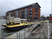 "SO8218 : Split hopper barge ""Teme"", Gloucester Docks by Rudi Winter"