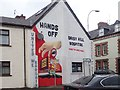 J0827 : 'Hands off Daisy Hill Hospital' mural at the junction of Cathrine Street and Canal Street, Newry by Eric Jones