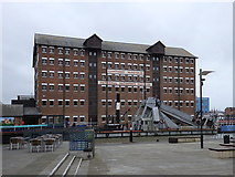 SO8218 : Llanthony Warehouse across the Barge Arm, Gloucester Docks by Rudi Winter