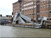 "SO8218 : Steam dredger ""SND No.4"", Gloucester Docks by Rudi Winter"