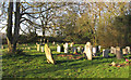 TQ7399 : Churchyard with Gravestones, West Hanningfield by Roger Jones