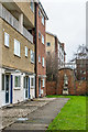 SO8218 : Flats in St Mary's Square and Charles II statue by Ian Capper