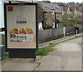 ST2787 : McDonald's advert on a Park View bus shelter, Bassaleg by Jaggery