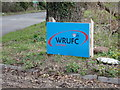 TM3150 : Woodbridge Rugby Football Club sign by Adrian Cable
