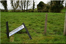 H5956 : Damaged road sign along Ballynasaggart Road by Kenneth  Allen