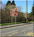ST1289 : Brown direction sign alongside High Street, Abertridwr by Jaggery