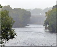 SD4964 : M6 motorway crossing the River Lune by Mat Fascione