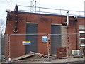 SO8754 : Worcestershire Royal Hospital - diesel generator exhausts by Chris Allen