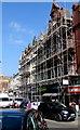 ST3188 : High Street scaffolding, Newport by Jaggery