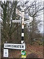 NY1421 : Old Direction Sign - Signpost, south west of Scalehill Bridge by Milestone Society
