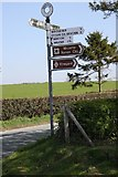 SJ5608 : Old Direction Sign - Signpost  by the B4380 at Wroxeter by Milestone Society