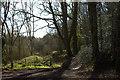 SJ6308 : Path junction on the side of The Wrekin by Robert Eva