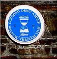 ST1289 : Nazareth Chapel blue plaque, Abertridwr by Jaggery