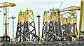 J3575 : Wind turbine parts, Harland & Wolff, Belfast  -  March 2019(2) by Albert Bridge
