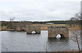NH9821 : Bridge Pillars by Anne Burgess