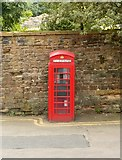SK5639 : K6 telephone kiosk and wall to the Castle grounds, Lenton Road by Alan Murray-Rust