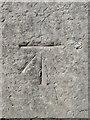 SJ5278 : Bench mark on Frodsham Bridge by John S Turner
