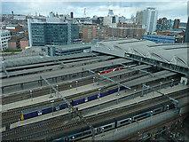 SE2933 : Bird's eye view of Leeds railway station by Stephen Craven