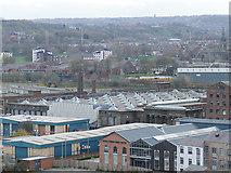SE2932 : Roof of Temple Mills, Leeds by Stephen Craven