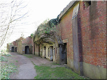 TR3140 : Rear of WWII gun emplacements at the Western Heights, Dover by Gareth James