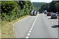 SX9082 : Layby on the A380, Haldon Forest by David Dixon
