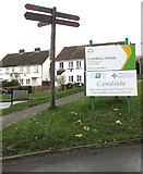 ST2896 : Active Travel signpost, Five Locks, Cwmbran  by Jaggery