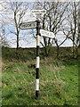 SD7867 : Fingerpost outside Feizor by John S Turner