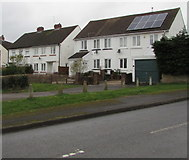 ST2896 : Rooftop solar panels, Five Locks, Cwmbran by Jaggery