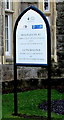ST2991 : Malpas Court/Llys Malpas name sign, Oliphant Circle, Newport by Jaggery