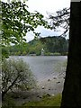SJ0120 : Looking across Lake Vyrnwy to the Straining Tower by Eirian Evans