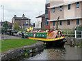 SJ8746 : Narrowboat leaving Planet Lock near Shelton, Stoke-on-Trent by Roger  Kidd