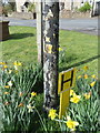 SD6170 : Fingerpost in Wennington and a water hydrant sign by John S Turner