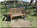 TM4899 : Seat near St. Mary's Church by Adrian Cable