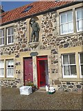 NO4202 : Alexander Selkirk statue on Main Street, Lower Largo by Oliver Dixon
