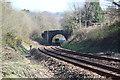 ST1686 : Train passing under Cefn Carneau Lane by M J Roscoe