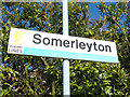 TM4796 : Somerleyton Railway Station sign by Adrian Cable