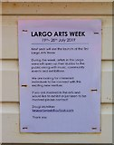 NO4102 : Largo Arts Week notice by Bill Kasman