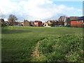 SE2435 : Open space alongside Manor Park surgery by Stephen Craven