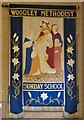 SJ9392 : Woodley Methodist Sunday School banner by Gerald England