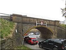 SE0641 : Railway Bridge over Low Mill Lane by Stephen Craven