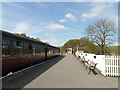 SE0653 : Ex-Midland coaches at Bolton Abbey station by Stephen Craven