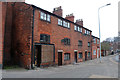 SJ8563 : Silk weavers' cottages, Mill Street, Congleton by Chris Allen